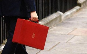 Chancellor's red briefcase, which will hold all the information on Budget dat next Wednesday