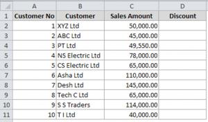 Step 1: Create sample data table