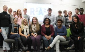 Students from Rotherham College's accountancy clinic