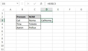 Linking cells in Microsoft Excel