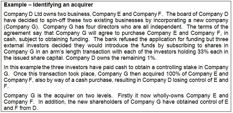 3 - identifying an acquirer