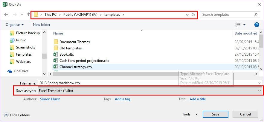 Excel worksheet templates | AAT Comment
