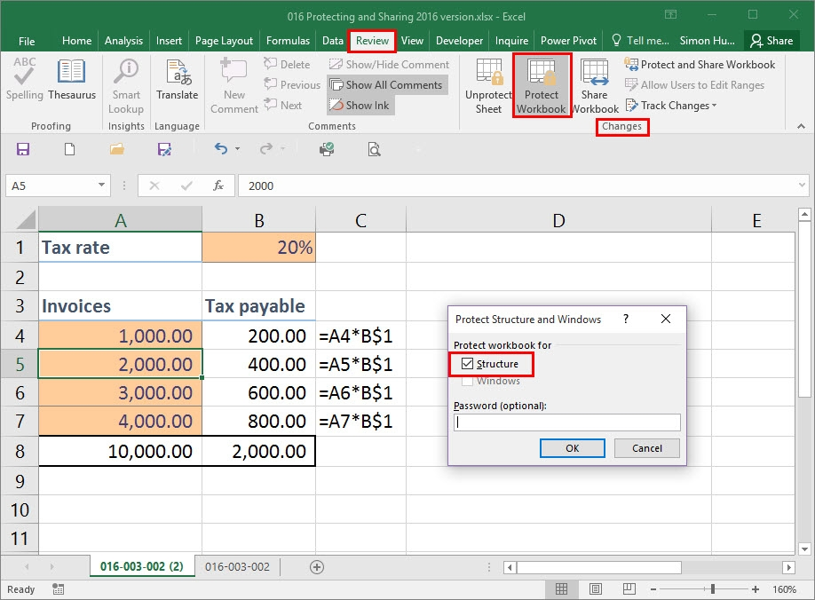 Protecting Your Data In Excel