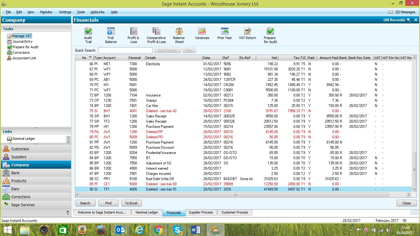Study tips – generating Nominal Ledger Reports in a desktop