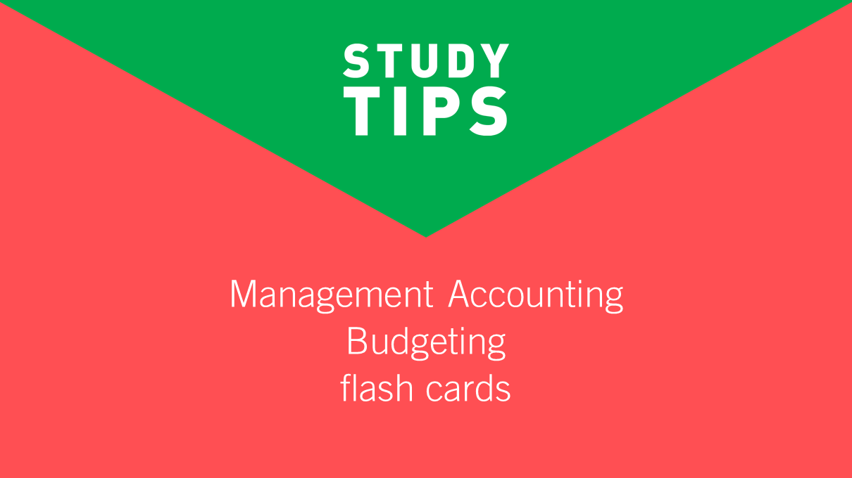 study support  professional - budgeting flash cards