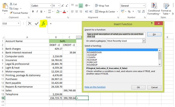 how to write an if statement in excel